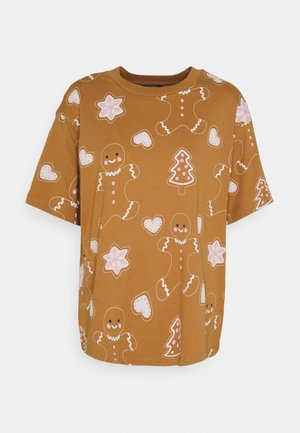 TOVI TEE - Print T-shirt - brown
