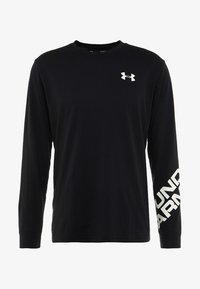Under Armour - WORDMARK SLEEVE - Funktionströja - black/white - 5