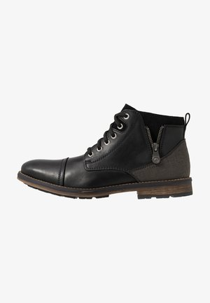 Lace-up ankle boots - nero/schwarz/graphit