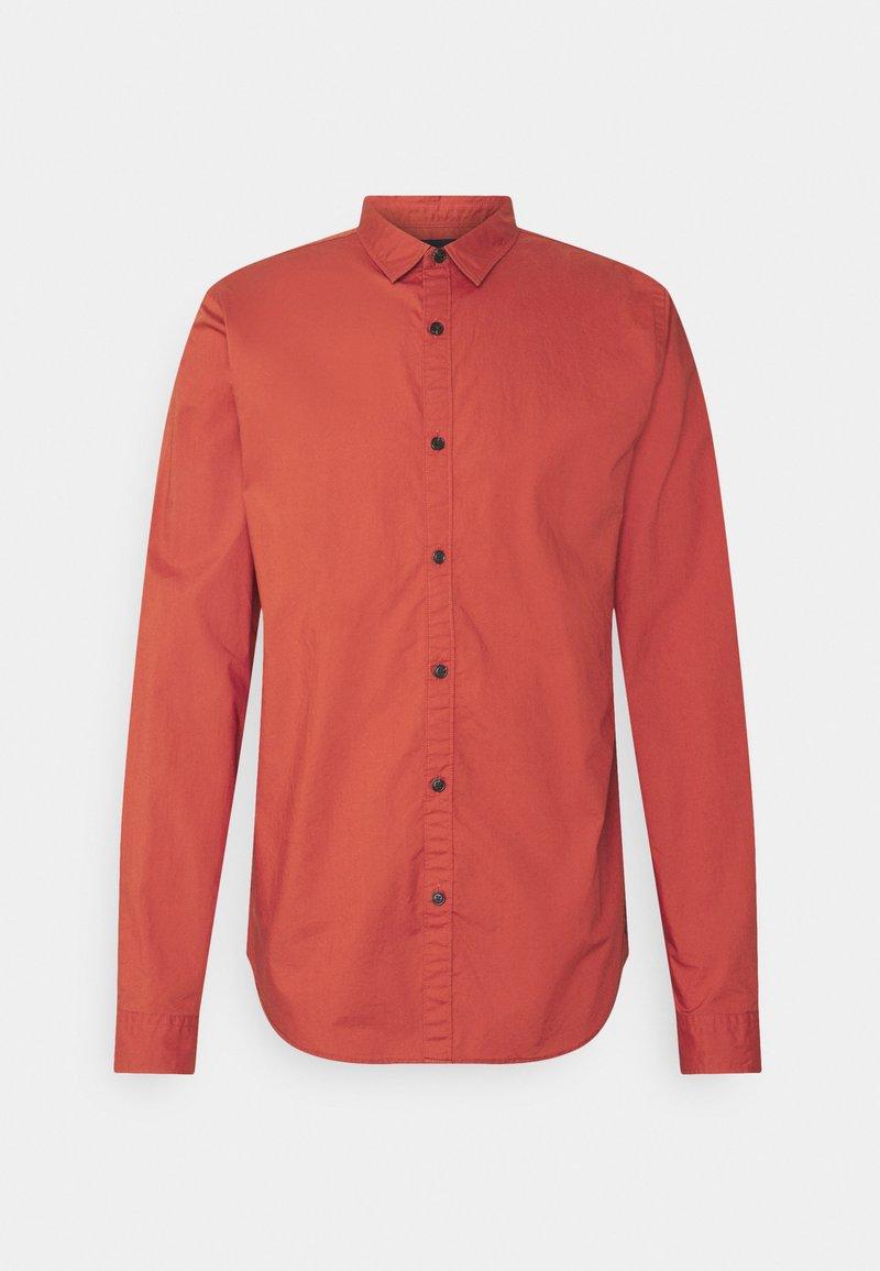 Scotch & Soda - REGULAR FIT TONAL CHEST - Shirt - burned orange