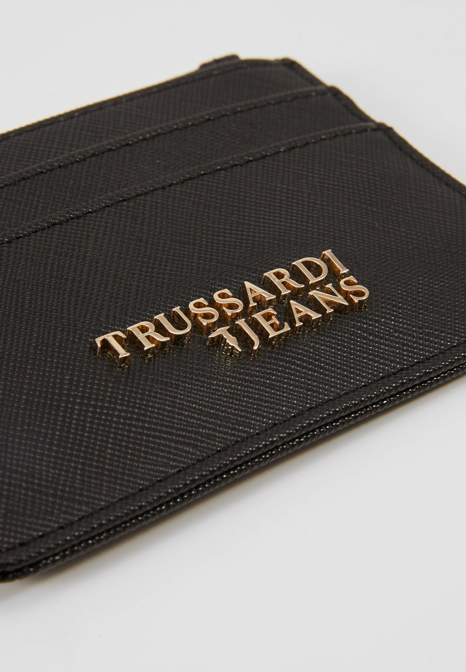 Nouveau style Meilleurs prix Trussardi Jeans BELLA ZIP CARD KEYCHAIN SAFFIANO - Portefeuille - black - ZALANDO.FR dM60u
