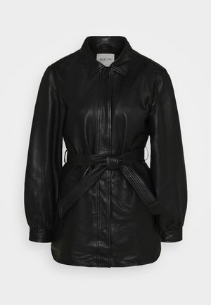 SLFLILI LONG  - Leather jacket - black