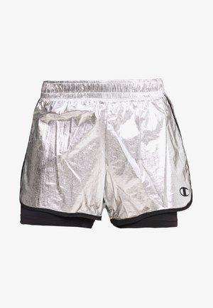 SHORTS - Sports shorts - silver