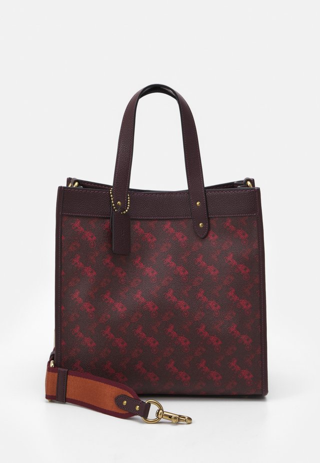 HORSE AND CARRIAGE TOTE - Kabelka - oxblood cranberry