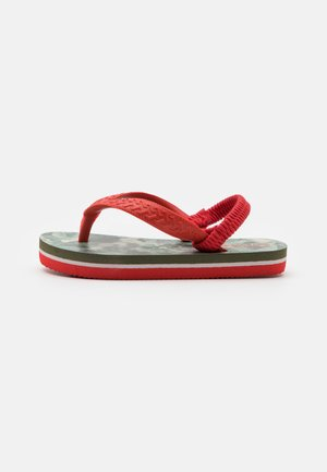 SOUTH BEACH CAMO UNISEX - Teensandalen - khaki/red