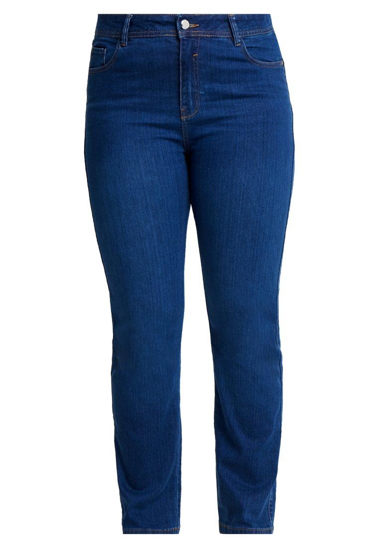 Evans Jeans Straight Leg - Mid Wash/blå