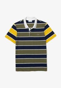 Lacoste - Polo shirt - khaki grün / blau / gelb / weiß - 5