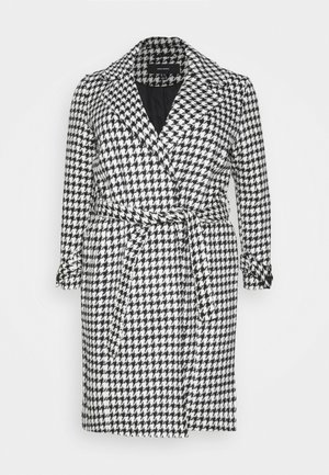 VMARIA LONG JACKET CURVE - Villakangastakki - black / white