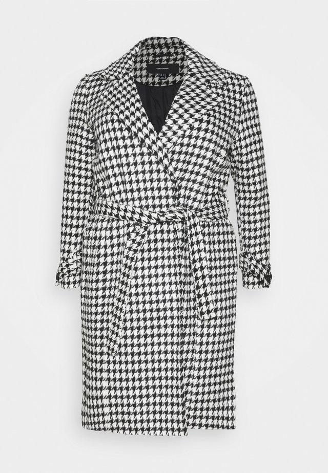 VMARIA LONG JACKET CURVE - Cappotto classico - black / white