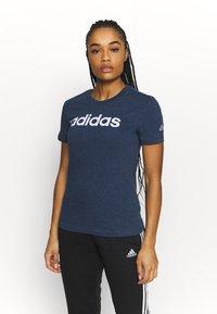 adidas Performance - T-shirts print - crname/white - 0