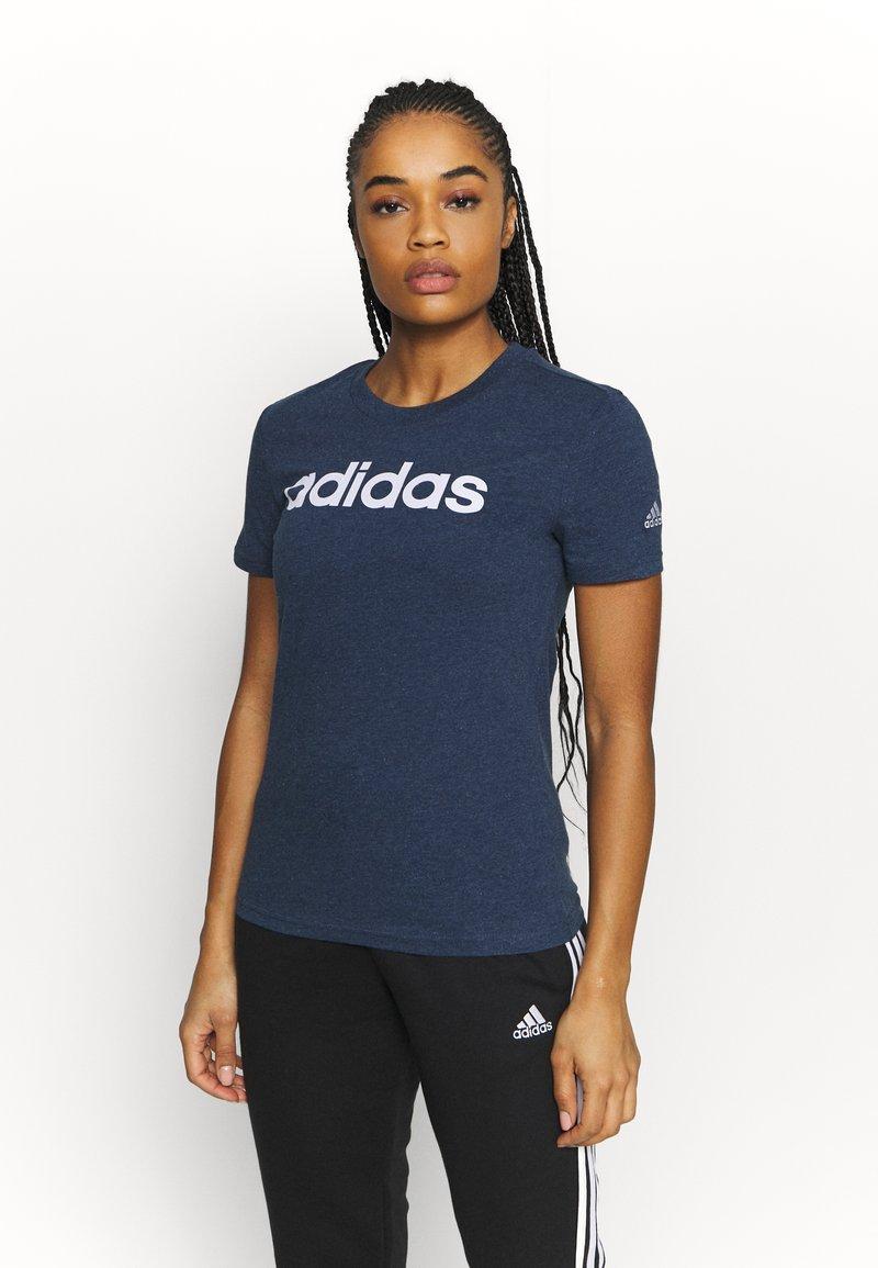adidas Performance - T-shirts print - crname/white