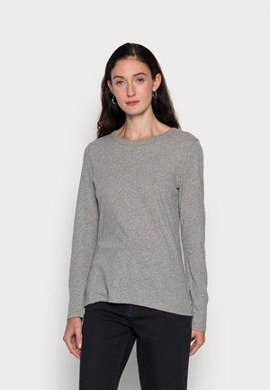 SLIM FIT - Maglietta a manica lunga - stone melange