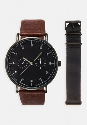 Watch - cognac/black