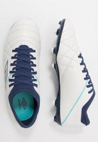 Umbro - MEDUSÆ III CLUB FG - Astro turf trainers - white/medieval blue/blue radiance - 1