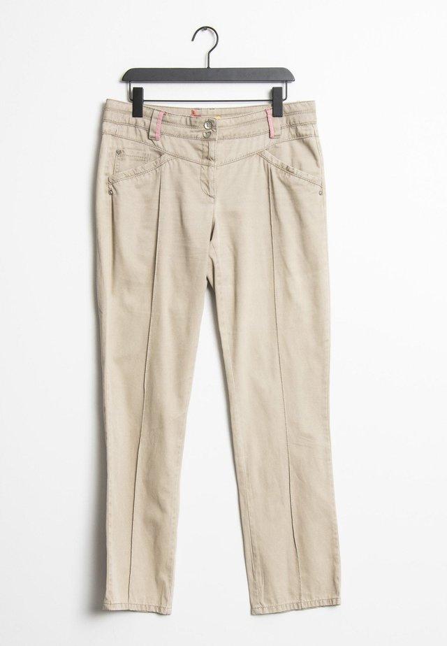 Straight leg jeans - beige