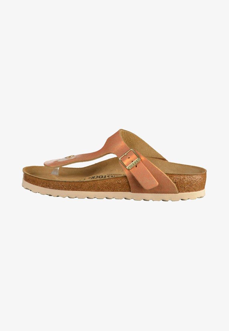 Birkenstock - GIZEH - T-bar sandals - brown/copper/orange