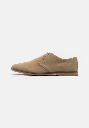 LEATHER - Stringate sportive - sand