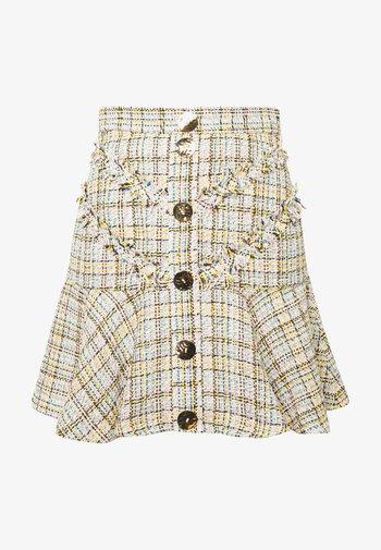FOR YOU LOVE SKIRT - Mini skirt - ivory tweed
