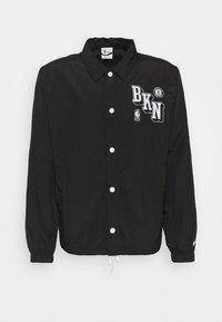NBA BROOKLYN NETS COACH JACKET - Club wear - black/white