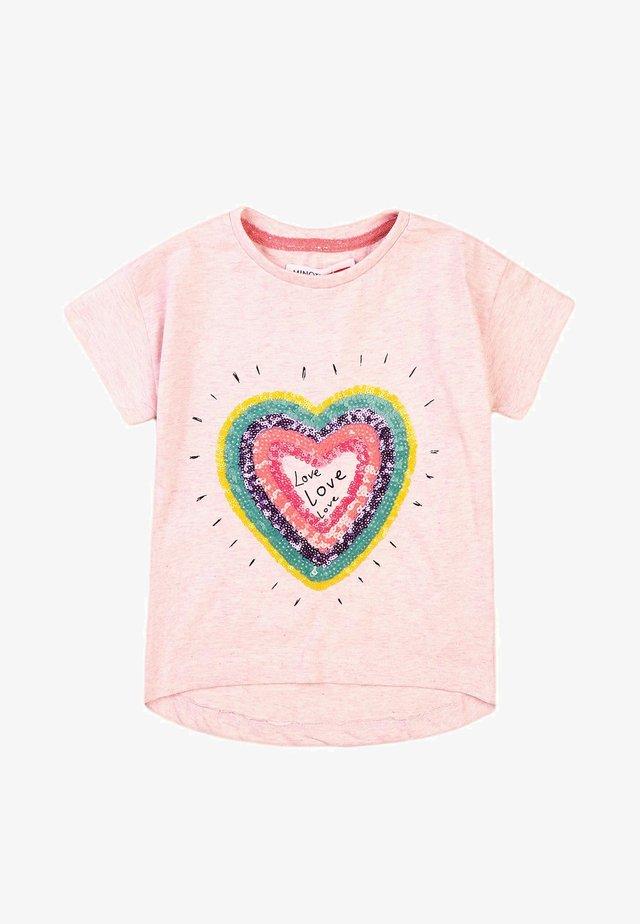 T-shirt med print - light pink