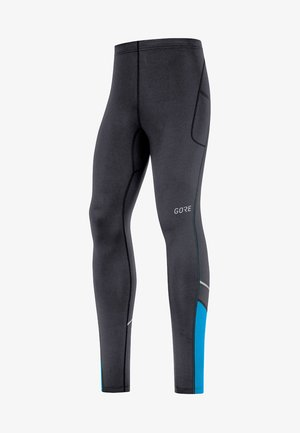 R3 MID - Leggings - black/blue