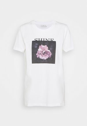 FLORAL - Print T-shirt - chalk