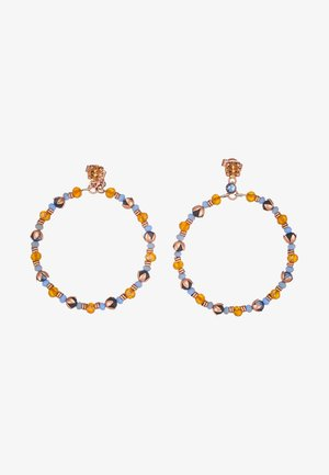 BEAT OF THE BEADS - Earrings - blue/brown