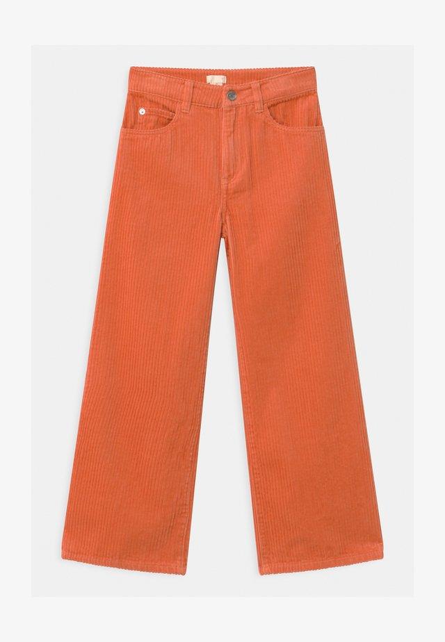 Trousers - orange medium dusty