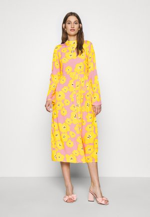 FLORAL SWEDISH MIDI - Juhlamekko - pink/yellow