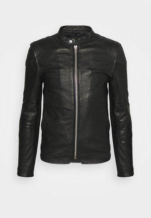 CLEAN BIKER - Leather jacket - black