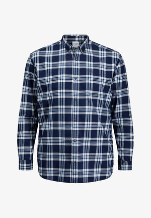 JJECLASSIC CHECK - Shirt - estate blue