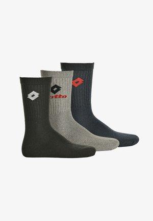 3 PACK - Sports socks - schwarz/grau/blau