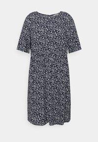 MY TRUE ME TOM TAILOR - DRESS FEMININE BASIC - Day dress - navy flowers and dots - 0