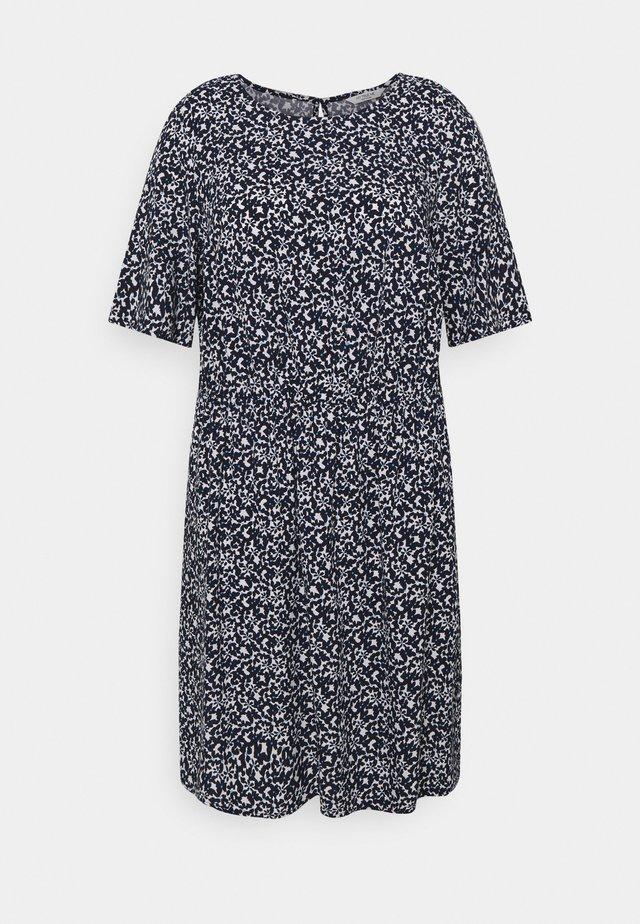 DRESS FEMININE BASIC - Hverdagskjoler - navy flowers and dots