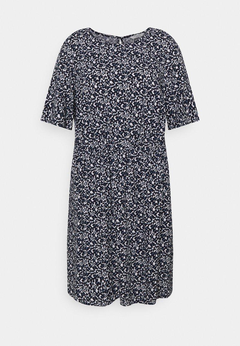 MY TRUE ME TOM TAILOR - DRESS FEMININE BASIC - Day dress - navy flowers and dots