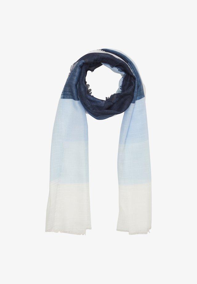 MIT COLOUR BLOCKING-EFFEKT - Sjaal - blue stripes