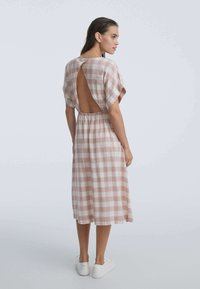 OYSHO - GINGHAM - Day dress - light pink - 1