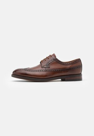 OLIVER WING - Smart lace-ups - dark tan