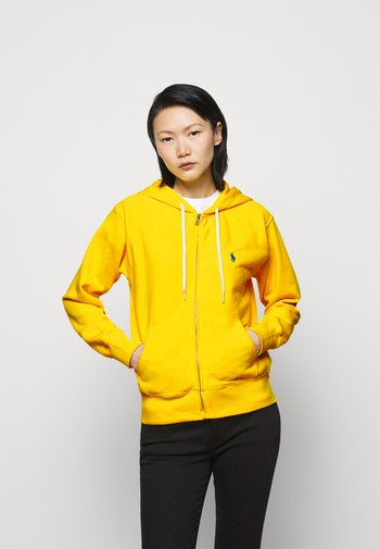 FEATHERWEIGHT - Mikina na zip - university yellow