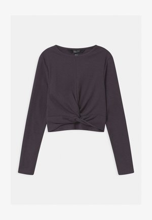 TWIST FRONT - Long sleeved top - light grey