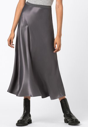 Pleated skirt - medium gray