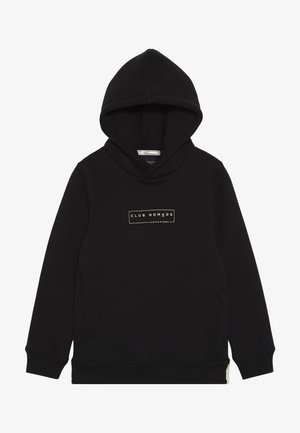 CLUB NOMADE HOODY WITH ZIP POCKETS AND ARTWORKS - Mikina skapucí - black