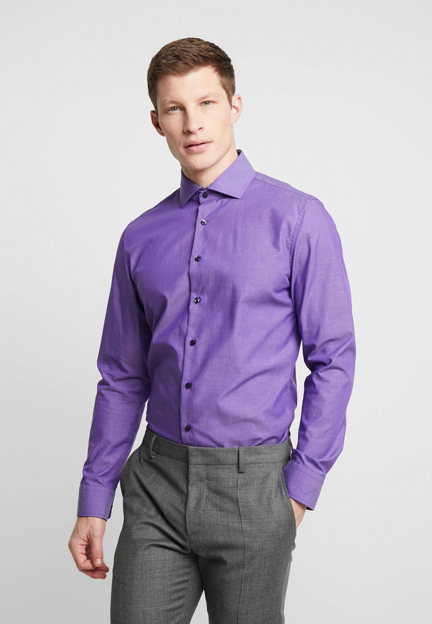 Uomo SLIM FIT SPREAD KENT PATCH - Camicia elegante