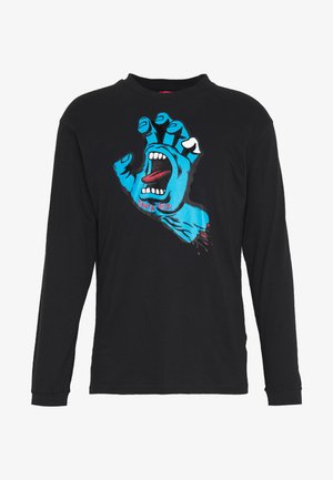 SANTA CRUZ UNISEX SCREAMING HAND LONGLSEEVE TEE - Long sleeved top - black