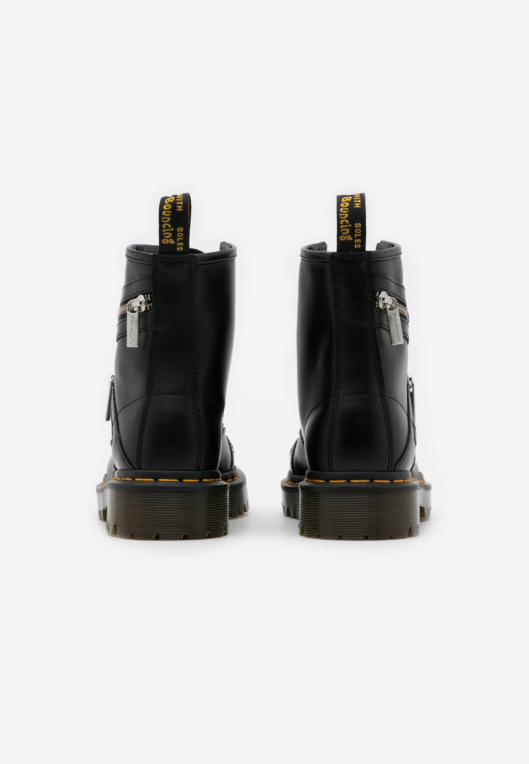Dr. Martens 1460 BEX ZIP - Santiags - black smooth - Bottines Femme Original