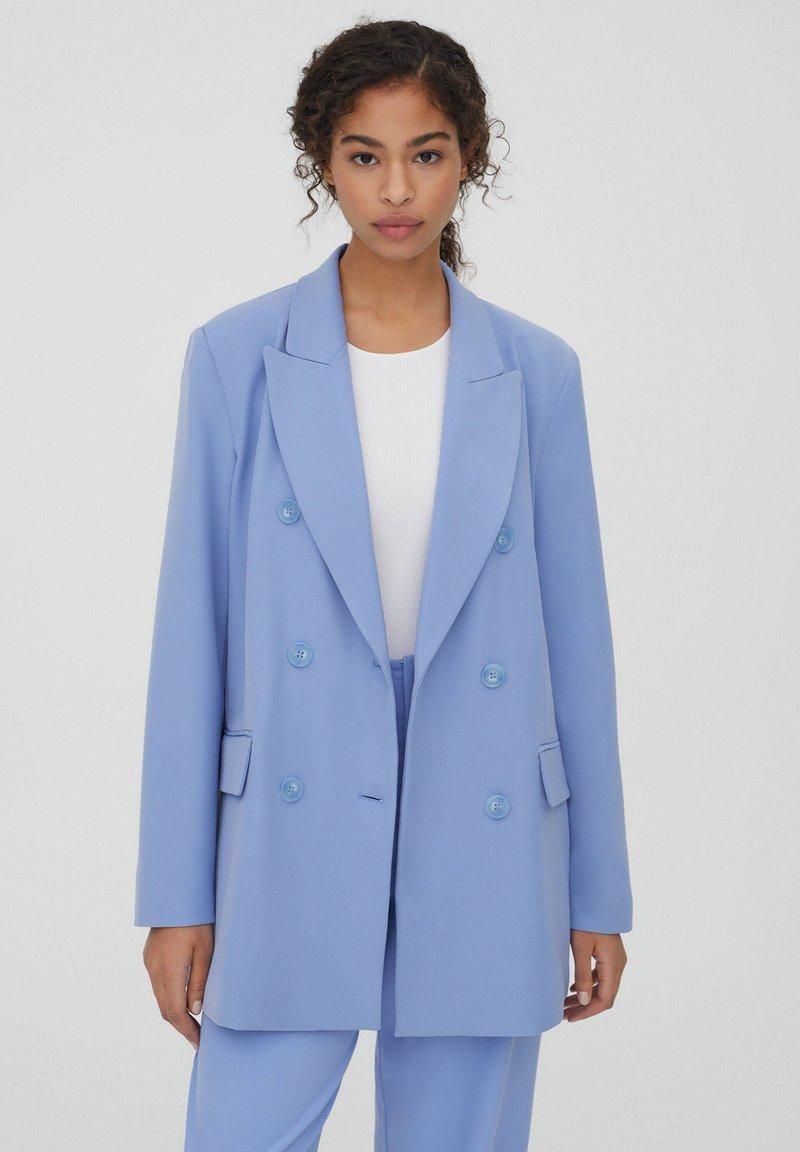 PULL&BEAR - Manteau court - blue