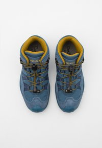 Lowa - ROBIN GTX UNISEX - Hiking shoes - stahlblau/senf - 3