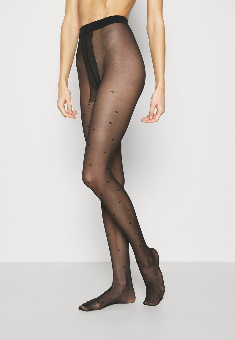 Pour Moi - LOVE LUXE 15 DENIER HEART TIGHTS 2 PACK - Tights - black