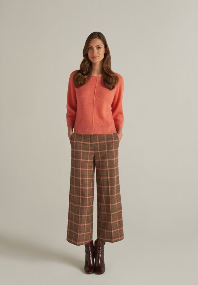 MIT KAROMUSTER - Trousers - apricot