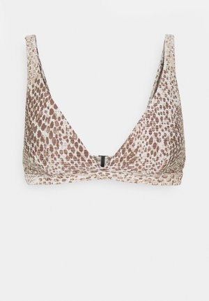 SERPENTINE LONGLINE - Bikini top - chocolate